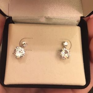 Kay Jewelers white sapphire drop earrings